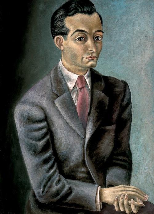 "Juan Soriano (1940). ""Villaurrutia (1940)…"",  Retrato al óleo sobre tela, 69 x 41 cm. Museo de Arte Moderno, México DF."